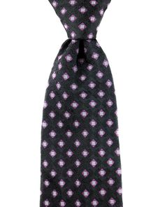 Fun patterning, in this Brioni black purple gray woven geometric 100% silk neck tie.  |  Find yours! http://www.frieschskys.com/neckwear/ties  |  #frieschskys #mensfashion #fashion #mensstyle #style #moda #menswear #dapper #stylish #MadeInItaly #Italy #couture #highfashion #designer #shopping