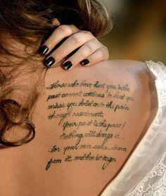 Unique Shoulder Tattoos For Women | quote tattoo design for women, quotes tattoos, love quotes, tattoo ...