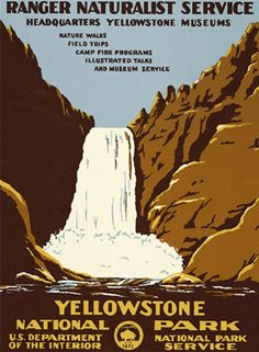 Beautiful, vintage style posters representing different National Parks
