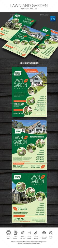 Lawn and Garden Flyer Template PSD