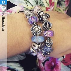 Repost @trollbeadssa Just loving these colors together! #trollbeadsstyle #trollbeads #trollbeadsbracelets