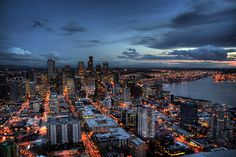 Downtown Seattle HDR Night