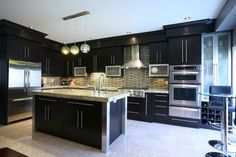 Cocinas Modernas en Color Negro