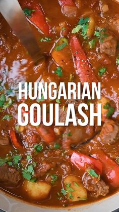 Looking for a Hungarian Goulash recipe? Deliciously tender beef, slow cooked in a rich tomato broth flavoured with Sweet Hungarian Paprika and caraway seeds. Easy to make on your stove, slow cooker on Instant Pot and Slimming World Syn Free too! Slow Cooker Beef, Slow Cooker Recipes, Crockpot Recipes, Cooking Recipes, Slow Cooker Recipe Videos, Easy Beef Recipes, Slimming World Beef Recipes, Beef Recipe Video, Beef Recepies