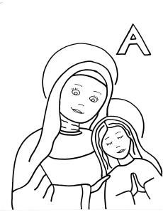 Saints to color for every letter of the alphabet