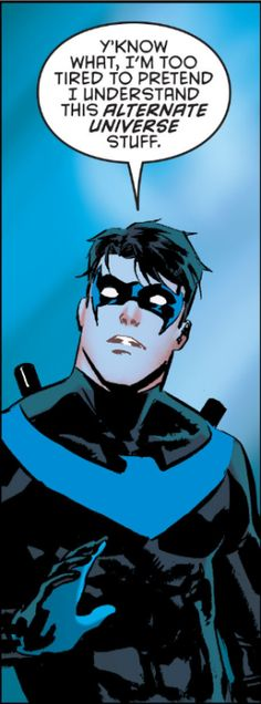 """spaceoperetta:  """" """"Nightwing #9  """"  I just wanted y'all to see my favorite comic panel of the week.  …It's also handy just…to have on hand. Just in case.  """""""