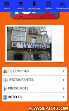 Por Miranda  Android App - playslack.com , Hola, gracias por visitarnos, PorMiranda es la nueva aplicacion de Miranda de Ebro. Aqui encontraras toda la agenda cultural, deportiva, ocio y de las distintas asociaciones de la ciudad. Todo al alcance de tu mano. Los partidos del Club Deportivo Mirandes. Actividades de Ebrovision.Miranda es una ciudad enclavada en la provincia de Burgos, cerca de Alava y La Rioja. Vitoria Gasteiz es la capital de provincia mas cercana. Son famosas las Fiestas de…