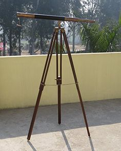 1M FLOOR STANDING BROWN ANTIQUE SINGLE BARREL TELESCOPE W... https://www.amazon.com/dp/B06W55G1V4/ref=cm_sw_r_pi_dp_x_pfw2yb6299BQR