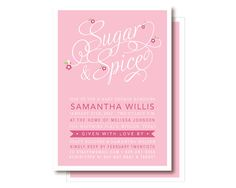Sugar & Spice Baby Girl Shower Invitations by DelightPaperie, $20.00