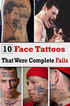 10 Face Tattoos That Were Complete Fails Terrible Tattoos, Andrea Doria, First Class Tickets, Neck Tattoo For Guys, Face Tattoos, Picture Story, Weird Stories, Weird Pictures, Titanic