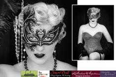 "Jewellery and Venetian mask used in the Sapphira Video ""Tease"". Embellished with Swarovski Elements Bridal Jewellery Online, Designer Jewellery, Designer Earrings, Bridal Jewelry, Jewelry Design, Designer Collection, Statement Jewelry, Crystal Jewelry, Venetian"