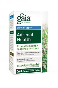 Gaia Herbs Adrenal Health Capsules Fatiga Adrenal, Adrenal Health, Adrenal Fatigue, Adrenal Glands, Chronic Fatigue, Chronic Stress, Gaia, Female Libido, L Tyrosine