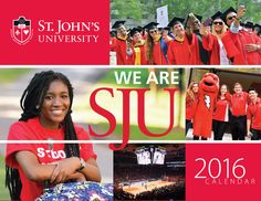 2016 Calendar design for St. John's University