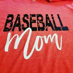 87bc5042 Baseball Mom Shirt custom made I your colors on super soft boyfriend tees!!  Baseball