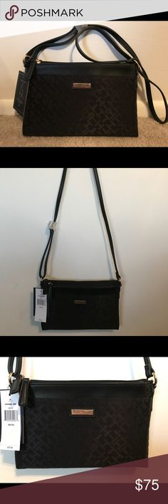 NWT Tommy Hilfiger Crossbody Purse and Pouch Black NWT Tommy Hilfiger Crossbody Purse and Pouch. Purse and removable pouch, black, zipper closure, adjustable strap Tommy Hilfiger Bags Crossbody Bags
