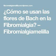 ¿Cómo se usan las flores de Bach en la Fibromialgia? – Fibromialgiamelilla