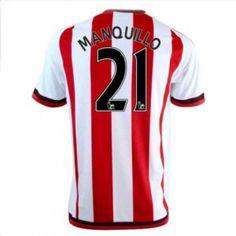 Sunderland AFC Home 16-17 Season Manquillo #21 Red Soccer Jersey [I322]