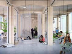 How this LOHA-designed space enables Nike to streamline their brand imagery operations Why We Dream, Corporate Interiors, Workplace Design, Belem, Coworking Space, Lounge Areas, Living Spaces, Encouragement, Shed