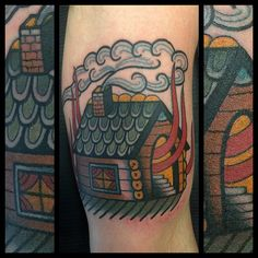 "7472274c6 electrictattoos: ""skingdomtattoo: ""Burning down the House…! (presso Skingdom  Tattoo Shop) "" Dap """