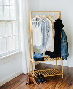 decorar o seu quarto - arara de roupas