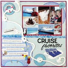 Easy! Collage Print? loving this cruise themed scrapbook page from the Spotted Canary design team!
