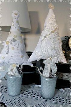 ♥2 XL Tannenbäume♥Advent♥ Weihnachten♥Spitze♥ Handarbeit♥Shabby♥ | eBay