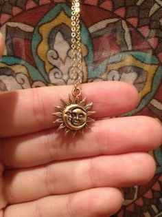 Necklace - moon and sun