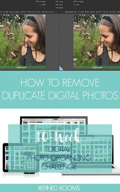 Drowning in digital photo duplicates? Here's a step-by-step tutorial for removing duplicates from your digital photo collection! Removing duplicate photos is one step of the Digital Photo Organizing Challenge. Join the Challenge! Book Organization, Organizing Tips, Organizing Paperwork, Organising, Photo Storage, Box Storage, Challenge Week, Apps, Photo Projects