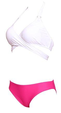 Haicoo Sexy Front Cross Solid Halter Bikini Two Pieces Swimsuit For Junior Girls at Amazon Women's Clothing store:  https://www.amazon.com/gp/product/B01MY7G0CH/ref=as_li_qf_sp_asin_il_tl?ie=UTF8&tag=rockaclothsto_bikini-20&camp=1789&creative=9325&linkCode=as2&creativeASIN=B01MY7G0CH&linkId=23102e35662294f858a811a0a1a167da