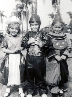 +~+~ Vintage Photograph ~+~+ Children all dressed up for a Halloween school party. California 1953