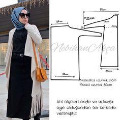 I am digging this cardigan. Abaya Fashion, Muslim Fashion, Skirt Fashion, Indian Fashion, Fashion Top, Hijab Mode, Suit Pattern, Hijab Chic, Moda Emo