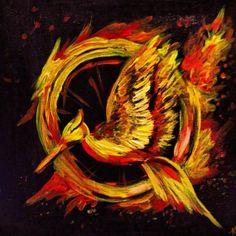 Catching Fire Mockingjay logo Painting