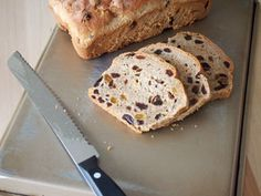 Homemade bread with great cinnamon flavor and cognac soaked raisins in every bite.