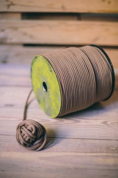 Brown Coconut Macrame Cord 5 mm 6 mm Rope Crafts, Macrame Cord, Make Your Own, How To Make, Craft Projects, Coconut, Place Card Holders, Brown, Do It Yourself