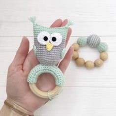 Excited to share this item from my shop: Owl gift set for baby Organic newborn toys Crochet teether rattle Wood teething owl toy Eco animal toy Baby shower rattle Gift box set baby Newborn Crochet, Crochet Baby Hats, Diy Crochet, Crochet Toys, Crochet Pattern, Baby Boy Toys, Baby Owls, Owl Baby Stuff, Newborn Toys