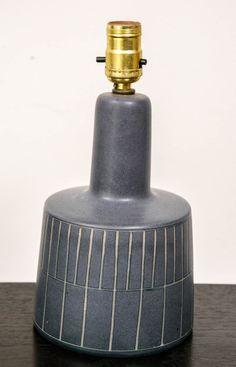 Gordon and Jane Martz; Glazed Ceramic Table Lamp for Martz Studio, 1960s.