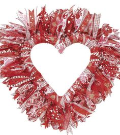 Easy Valentine Ribbon Wreath