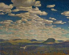 """""""The Fire Ranger,"""" Frank Johnston, 1921, oil on canvas, 48.4 x 60.3"""", National Gallery of Canada."""