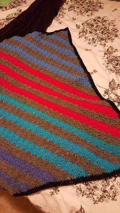 Crocheted Corner to corner blanket