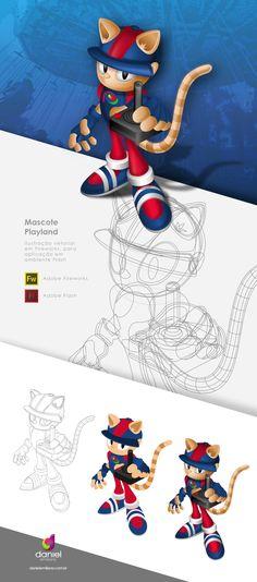 Ilustração de Mascote - Playland