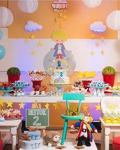 "486 Gostos, 22 Comentários - Kikids Party by Kiki Pupo (@kikidsparty) no Instagram: ""Festa Pequeno Príncipe super fofa, adorei! Por @so1bolinho ⭐️ #kikidsparty"""