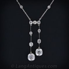 Antique Negligee Diamond Necklace - 90-1-2935 - Lang Antiques