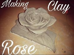How to make a clay rose flower tutorial-easy clay modeling for kids-clay flower by Pawan Verma - YouTube