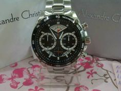 JAM TANGAN ALEXANDRE CHRISTIE MEN 6360 MC SILVER BLACK RING HITAM ORIGINAL #jamtangan #alexandrechristie