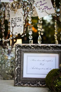 """""""Please leave the couple a wish and hang it on the tree..."""""""