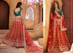 HEAVY BRIDAL LEHENGA For Order Whats App me on +918460124383 / mail us on dharmapparel@gmail.com