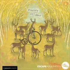 Frankly My Deer by Jason Kotecki of Year 2016, Gone With The Wind, Deer, Moose Art, Digital Art, Valentine Party, Art Paintings, Animals, Friends