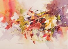 """Watercolor painting """"Fall Colors""""."""