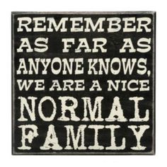 """Kathy's Kreations """"Normal Family"""" Wooden Box Sign Art"""