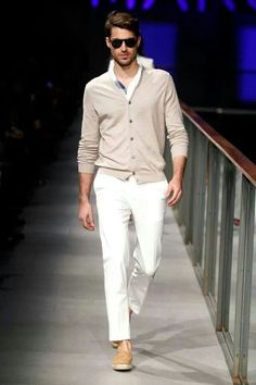 White and beige classy Fashion Moda, Mens Fashion, Fashion Outfits, Fashion 2015, Fashion Ideas, Sharp Dressed Man, Well Dressed Men, Summer Outfits 2014, Toms Style